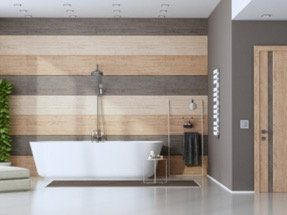 contemporary bathroom addition